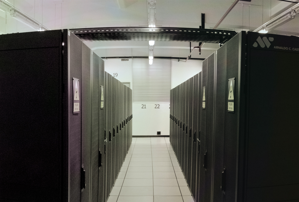 Foto de interior del nuevo Data Center de Antel