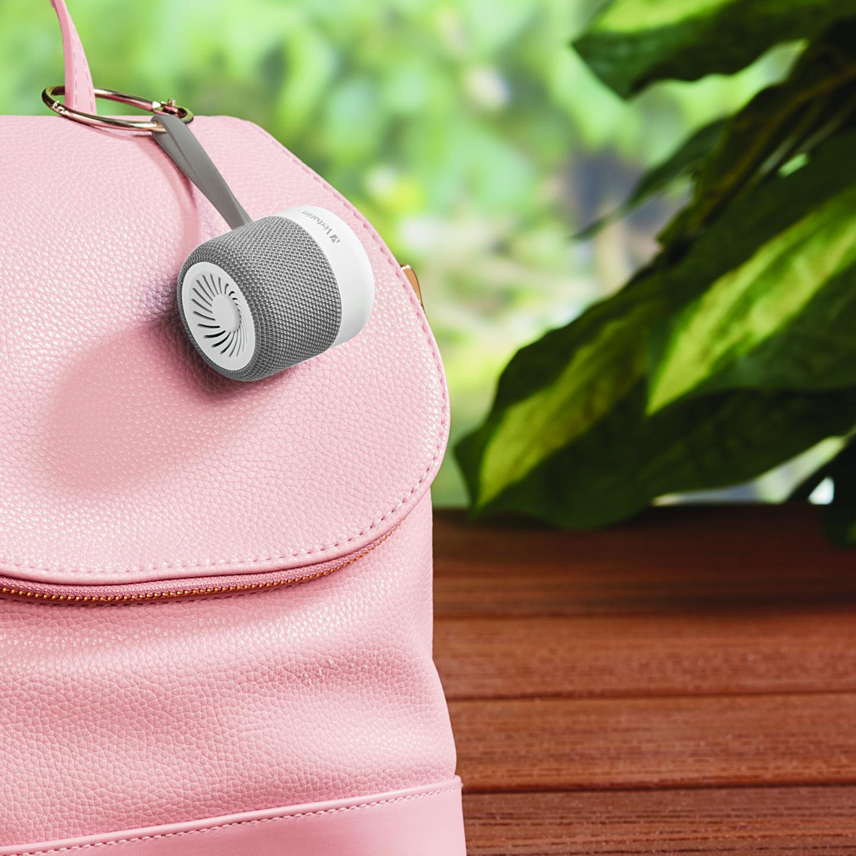 Mini altavoz inalámbrico Bluetooth® – Blanco. Manos libres y ranura microSD