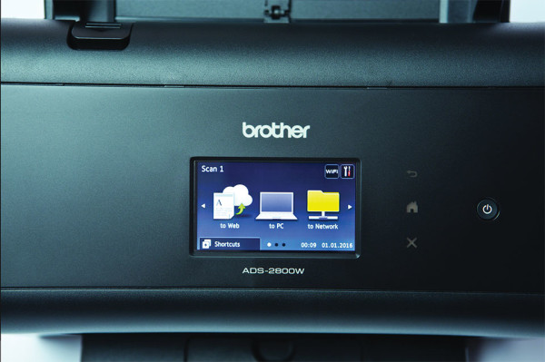 Brother ADS-2800W Touchscreen