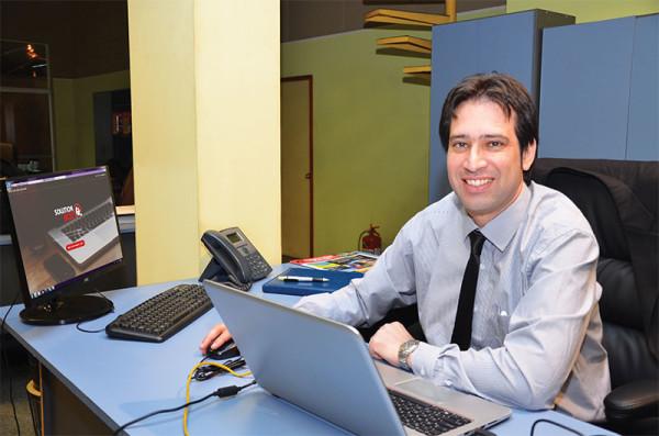 Adolfo Martínez, reciente incorporación al sector de preventas de Solution Box Uruguay
