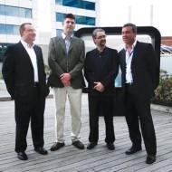 Foto Alf Berger , Marcos Kanovich, Gerardo Cáceres y Gabriel Gonzalez de Techdata