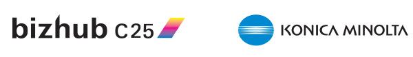 Bizhub c25 y Konica Minolta logos