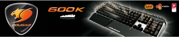 COUGAR lanza el Teclado de Juegos 600K