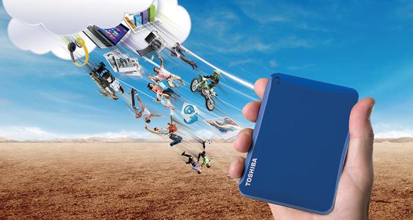 Con Canvio Connect II de Toshiba almacenamiento seguro simultaneo y sincronizado