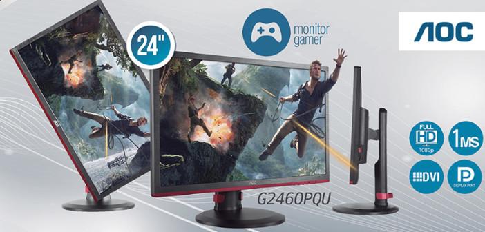 El Monitor Gaming AOC G2460PQU acelerará el corazón de cualquier jugador entusiasta o profesional