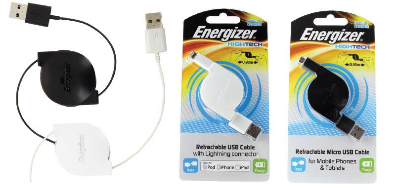 Energizer Cable retractil