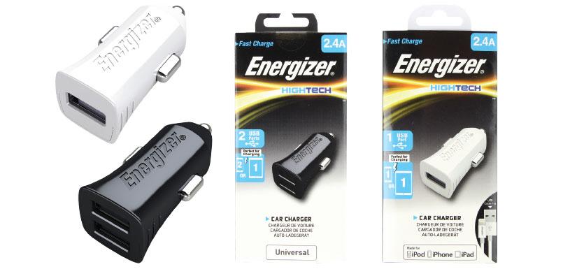 Energizer Cargador de auto USB