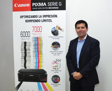 Erick Melendez, Supervisor de Marketing para Latinoamérica y Centroamérica de la división impresoras Canon