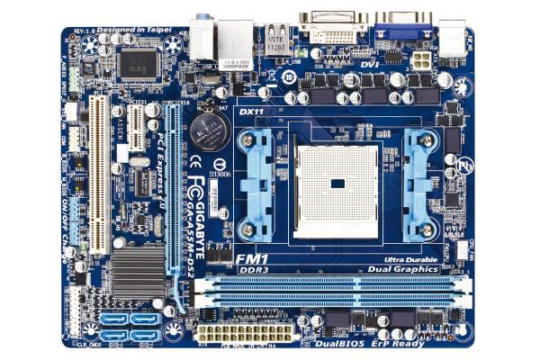 Foto Motherboard Gigabyte GA-A55M-DS2 1