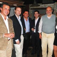 Foto Gabriel González de Tech Data, Germán Ruiz, Diego Di Bello y Robert Acosta de DDBA; Carlos Caetano de Tools y Gimena Badell