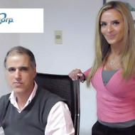 Foto Jorge Assaf, Gerente Comercial y Claudia Armellino, Asistente de Marketing de Incotel