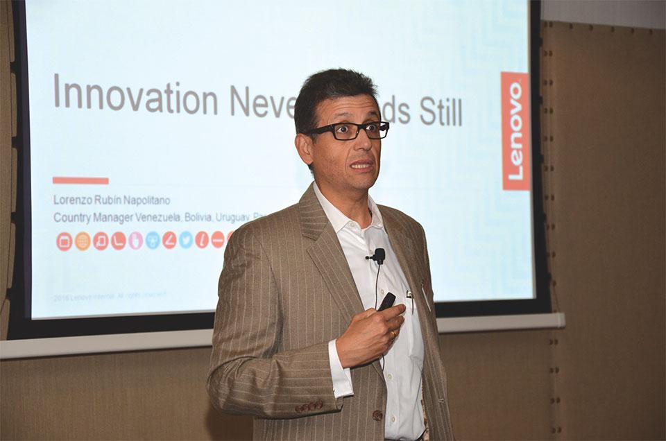 Lorenzo Rubin Napolitano, Sales & Operations Manager de Lenovo para Venezuela, Bolivia, Paraguay, Ecuador y Uruguay
