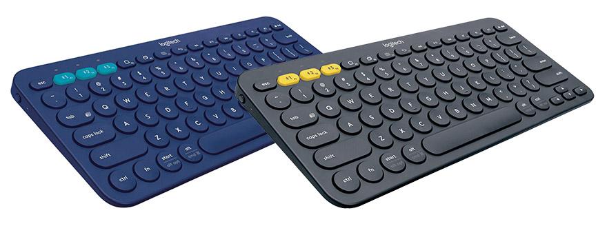 Logitech Keyboard K380 azul y negro