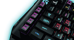 Logitech teclado patrones de retroiluminacion Romer G