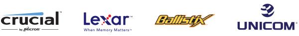 Unicom_Lexar_Crucial_Ballistix Logo