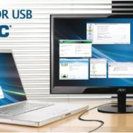 Foto AOC Lanza monitor USB video y energia por cable usb