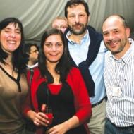 Foto Andrea, Enrique y Fernando de Ical con Marcela de Tech Data