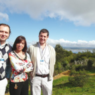 Antonio Gullone (Intcomex), Clara Perez (AOC), Damian Gugliemotti (Epson).