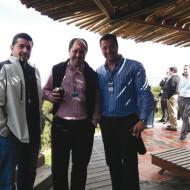 Ariel Plabnik (Kingston), Maximiliano Casero (Toshiba) y Luis Barreiro (Intcomex).