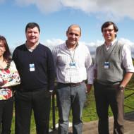 Clara Perez (AOC), German Ferrer (Gte. RMA Intcomex), Marcelo y Mauricio Crespi.