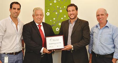 Daniel Chroszucha, Cesar Martínez Nieto, Luciano Alano y Samuel Chroszucha