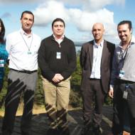 Yamila Silvera, Christian Ledo, Rodrigo Rivas y Ec. Santiago Illa (Grupo Disco), Pablo Estable (Intcomex)